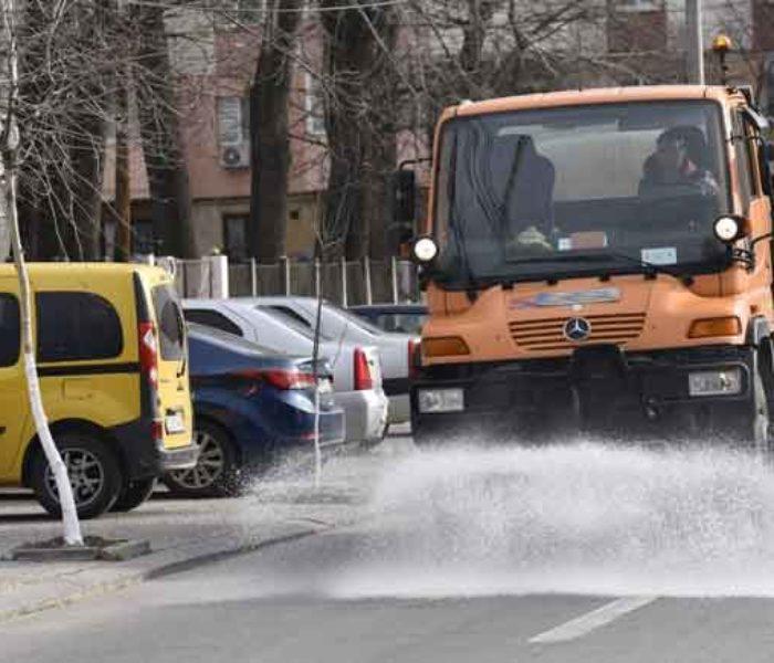 #Covid-19 Târgovişte: Străzile şi trotuarele vor fi dezinfectate