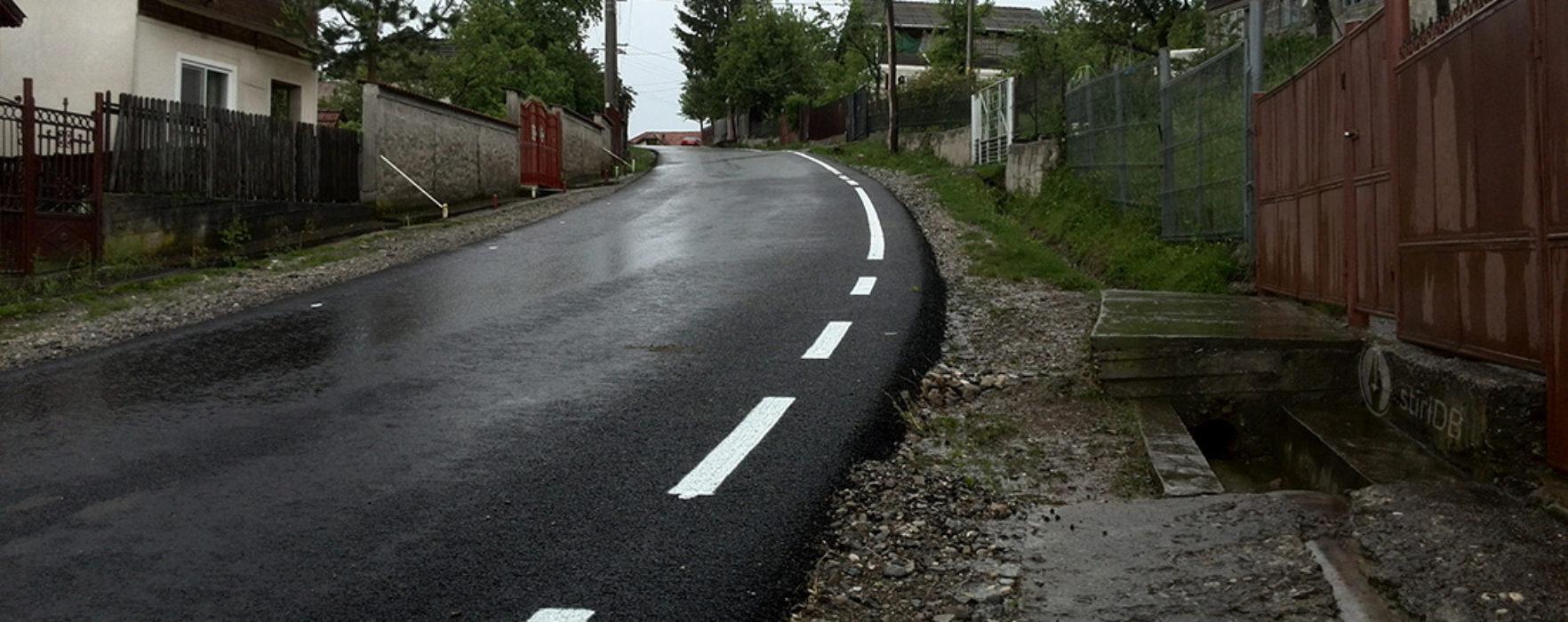 Drum comunal, asfaltat la Buciumeni