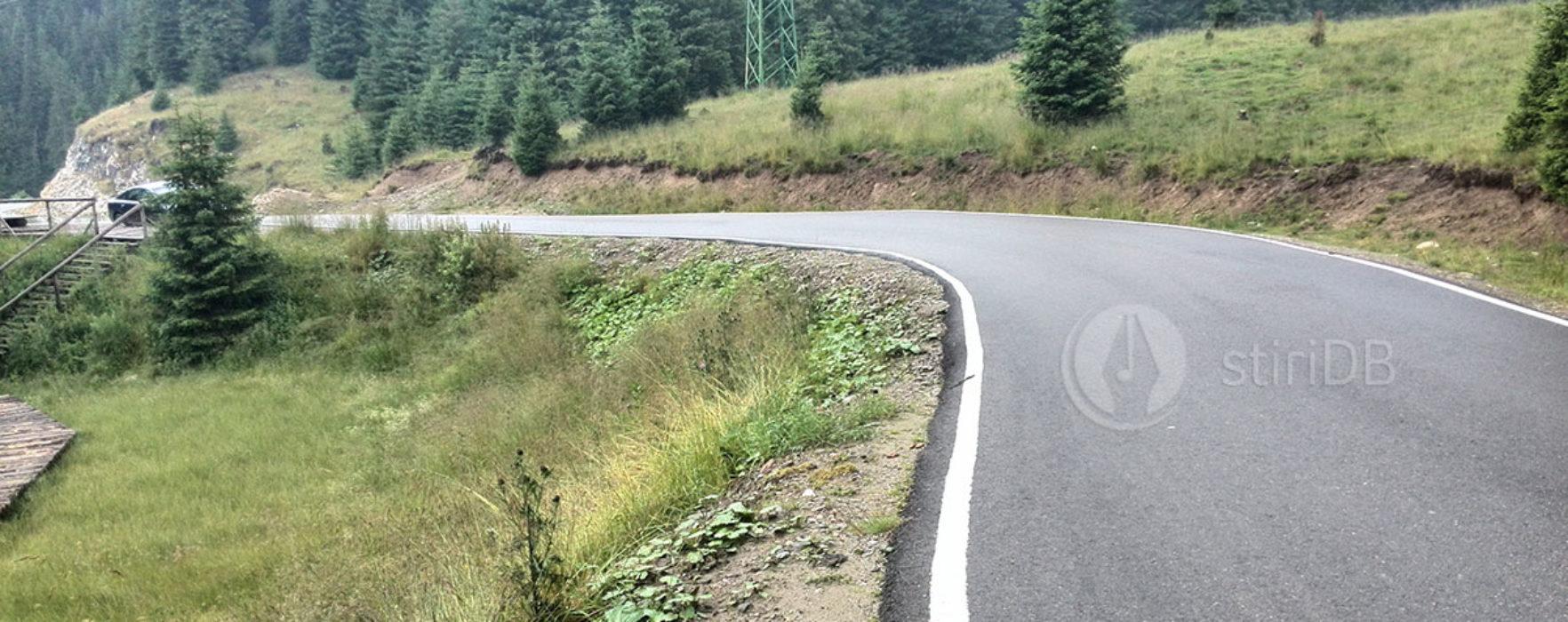 Dâmboviţa: A început asfaltarea la drumul din munte, zona Zănoaga