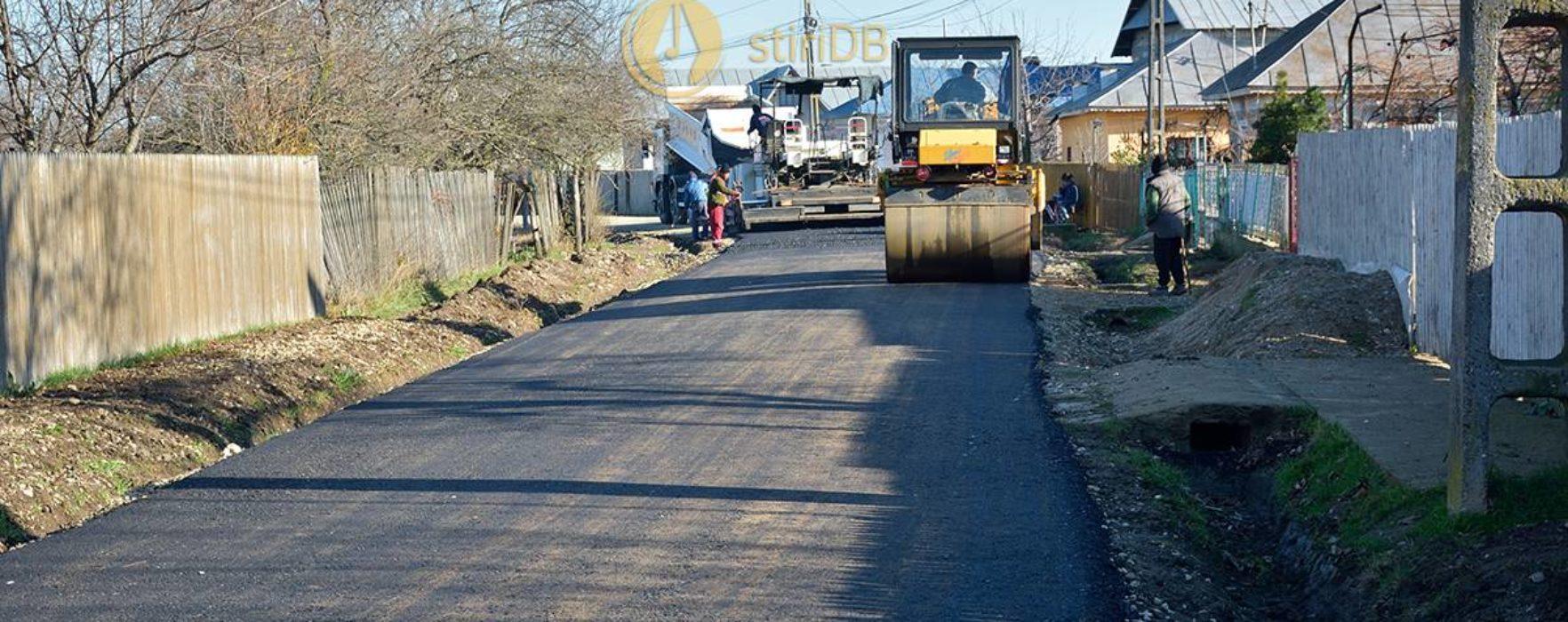 Petreşti: Lucrări de asfaltare cu bani de la bugetul de stat, dar şi asocieri consiliul local-consiliul judeţean