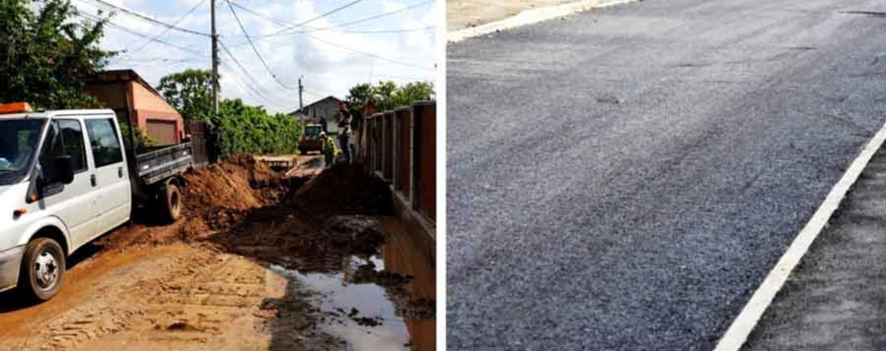 Târgovişte: Au fost asfaltate străzile Nifon, Miron Costin si Ileana Sararoiu