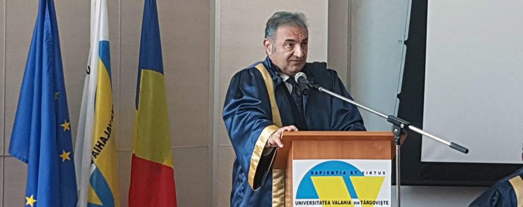 Dâmboviţa: Prim-viceguvernatorul BNR Florin Georgescu a primit titlul de Doctor Honoris Causa al Universităţii Valahia