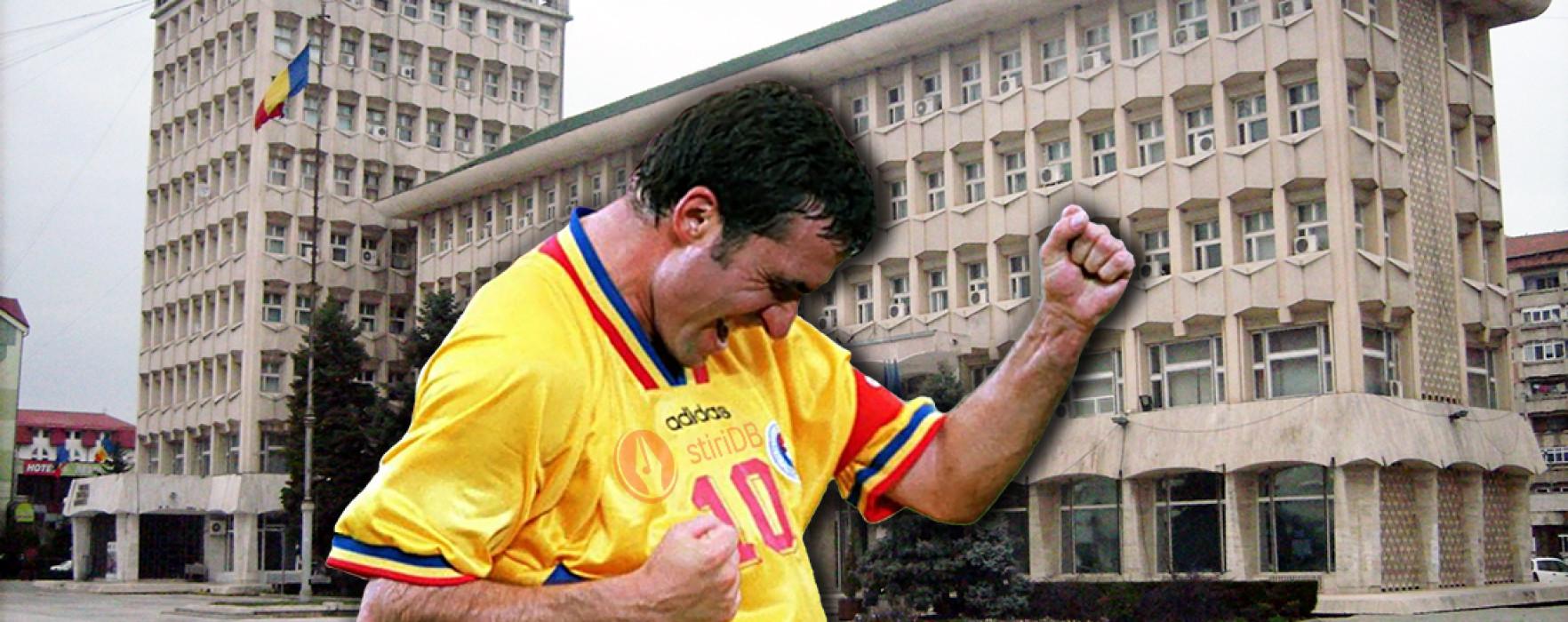 Gică Hagi, la Zilele Cetăţii Târgovişte, într-un meci Generaţia de Aur-consilieri locali