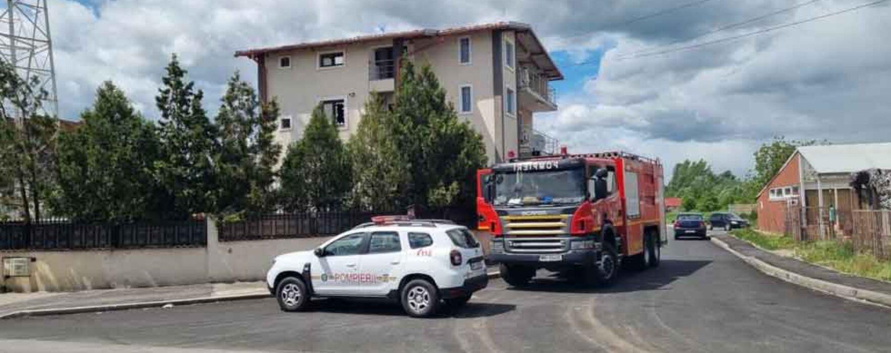 Târgovişte: Incendiu la un Centru de îngrijire persoane cu dizabilităţi, 20 de persoane evacuate preventiv