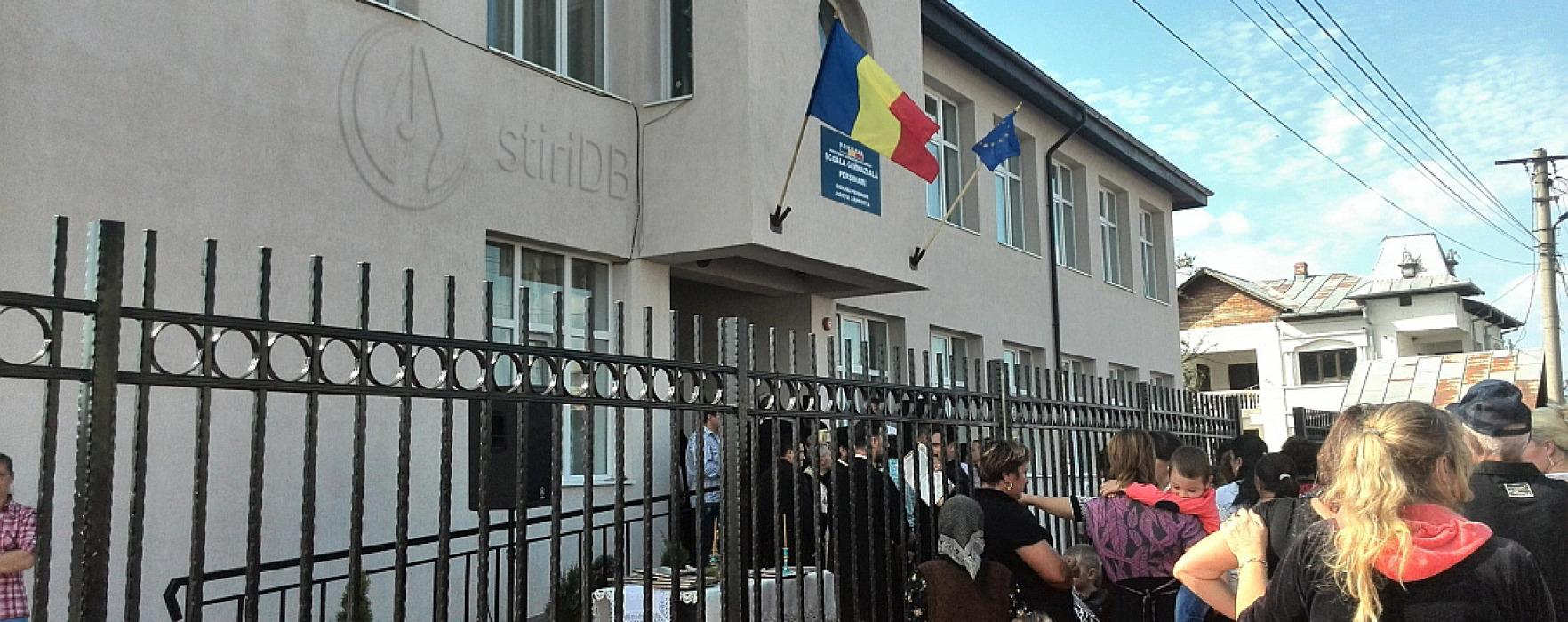 Şcoala gimnazială din Perşinari, inaugurată pe 15 septembrie