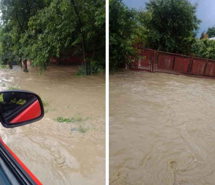 Dâmboviţa: Peste 50 de gospodării inundate, pompierii acţionează pentru evacuarea apei