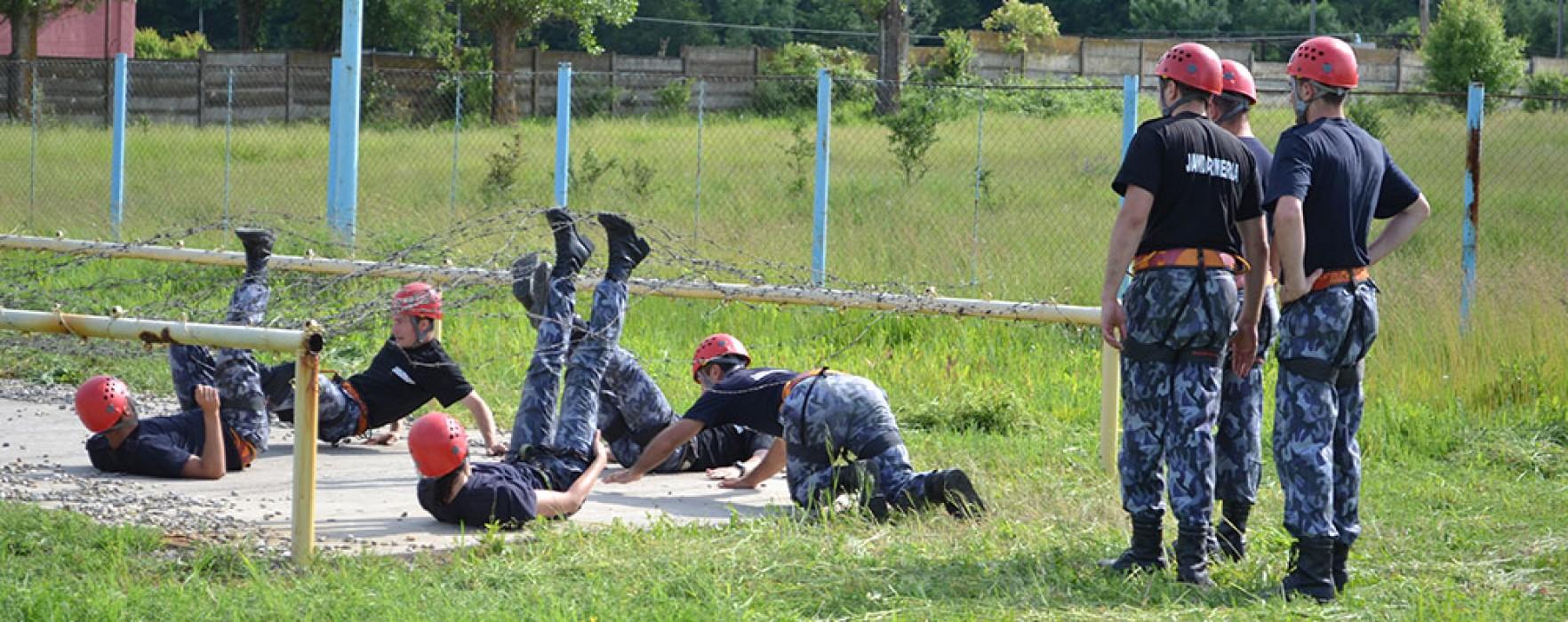 Studenţii anului I din cadrul Academiei de Poliţie s-au pregătit la Ochiuri