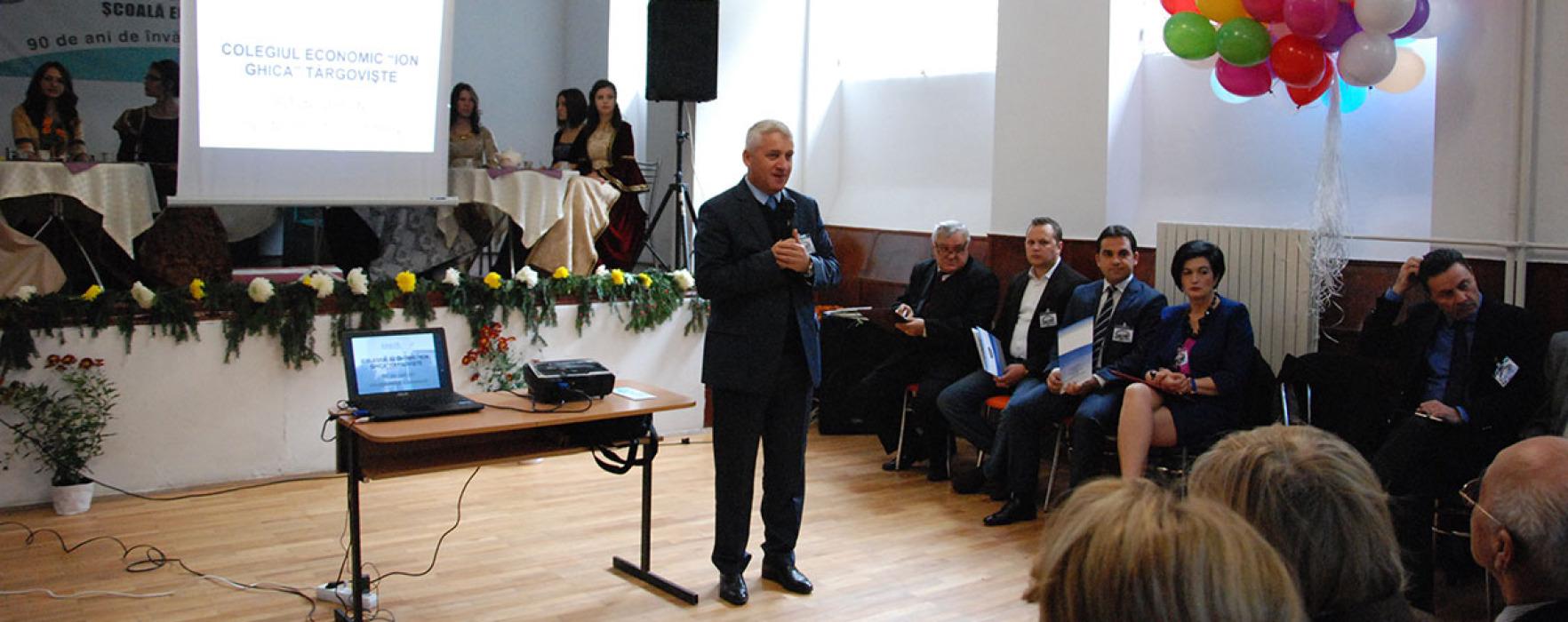 """Colegiul Economic """"Ion Ghica"""" Târgovişte, 90 de ani de la înființare"""