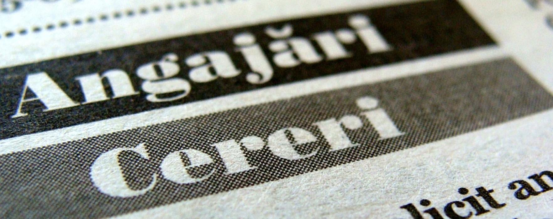 O treime din locurile de muncă oferite prin intermediul AJOFM Dâmboviţa, pentru muncitori necalificaţi