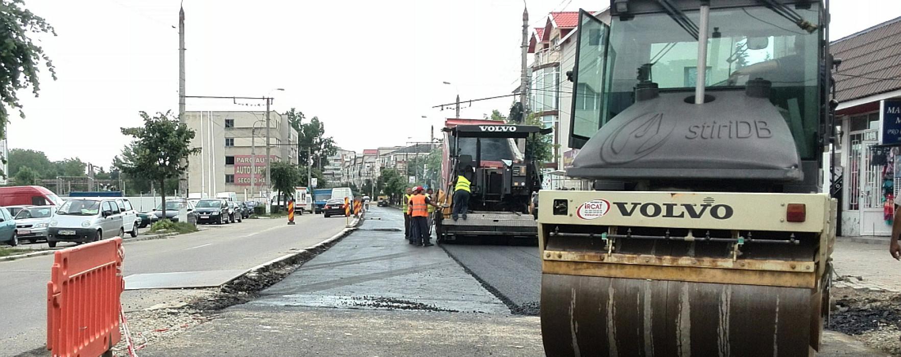 Lucrările pe Bulevardul I.C. Brătianu din Târgovişte se vor finaliza în august