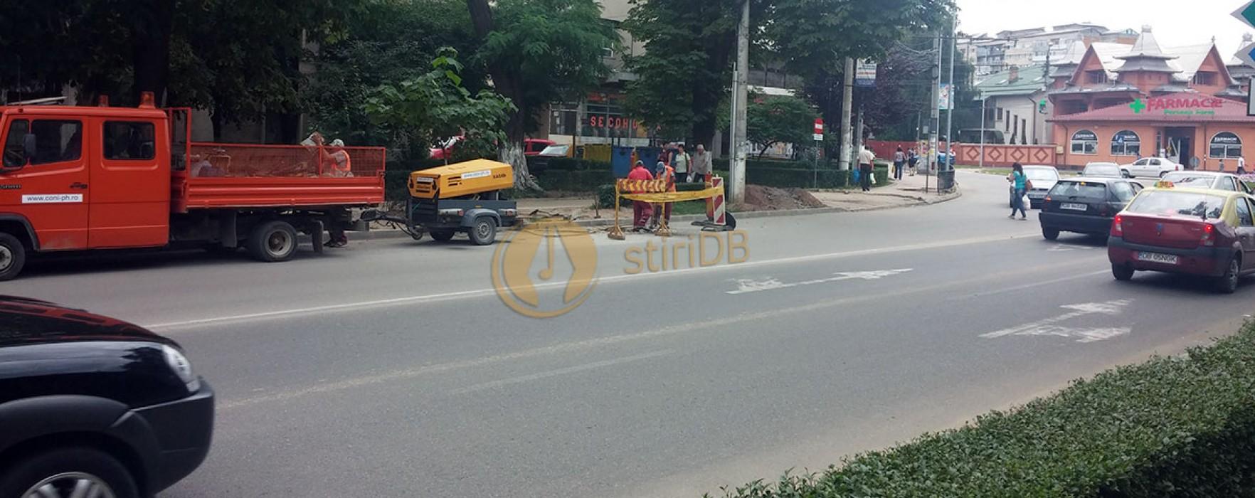 Târgovişte: Bulevardul Brătianu, spart a doua oară după ce a fost asfaltat în cadrul PIDU
