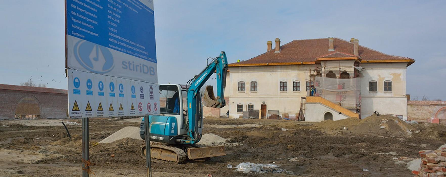 Lucrările de la Palatul Brâncovenesc de la Potlogi se vor finaliza în noiembrie (foto)
