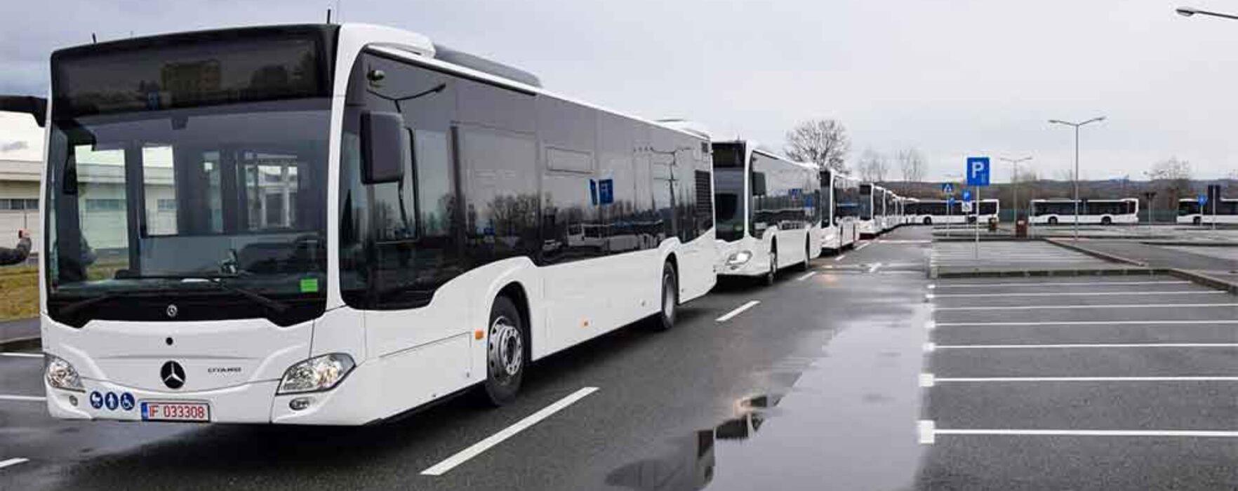 Târgovişte: Primul lot de autobuze tip hibrid pentru transportul public a ajuns în municipiu
