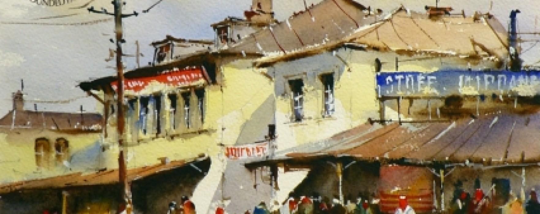 Târgoviştea de odinioară, tema expoziţiei artistului Corneliu Drăgan la Muzeul de Artă Târgovişte