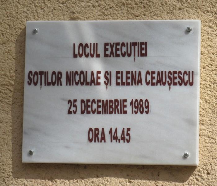 Locul unde au murit soţii Ceauşescu, transformat în muzeu