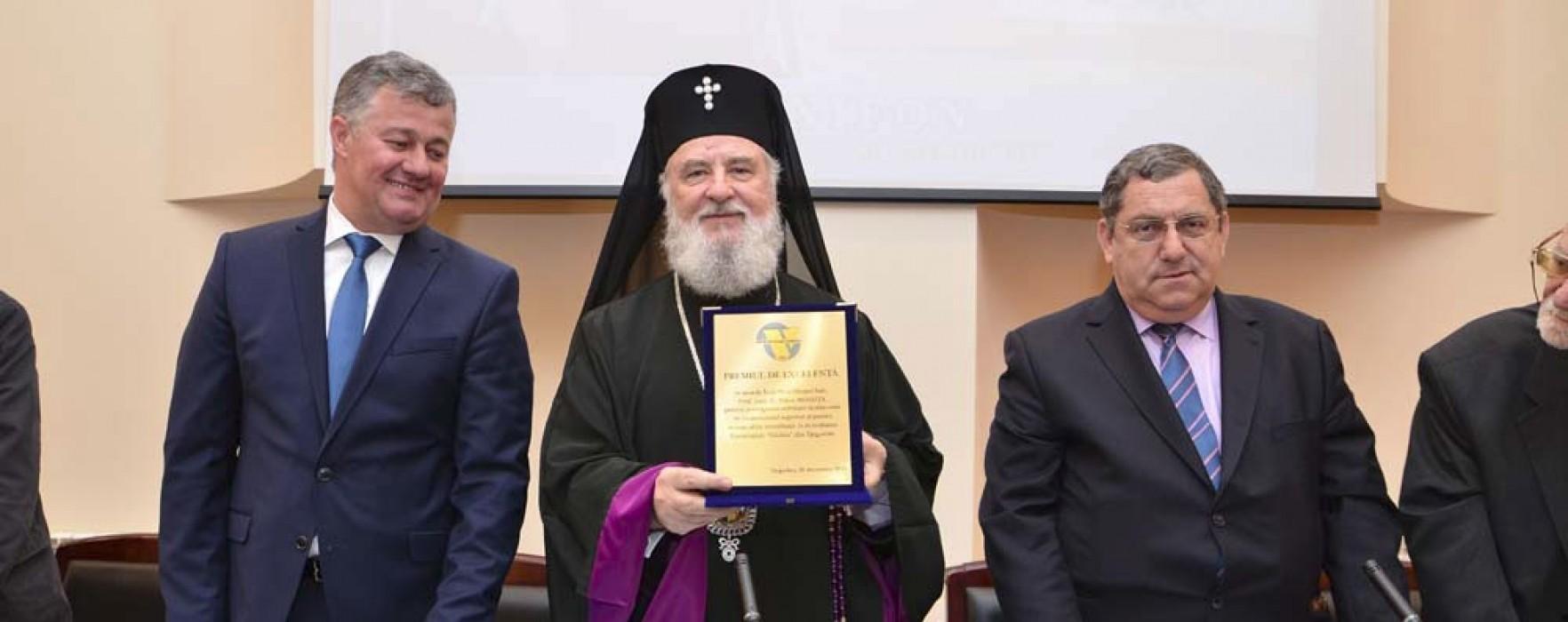 Premiu de excelenţă pentru activitatea academică pentru arhiepiscopul Târgoviştei