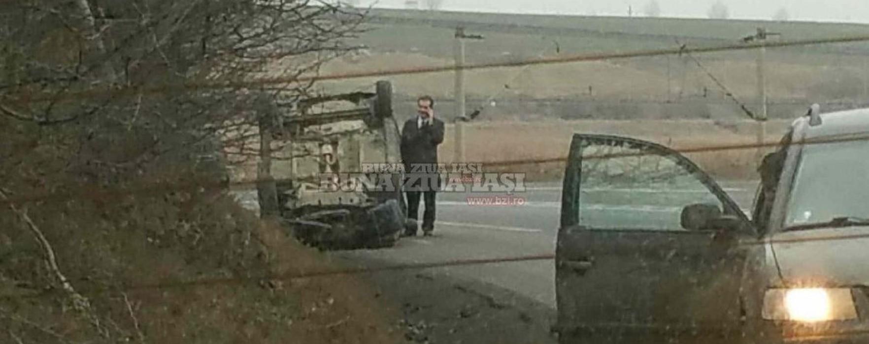 Copreşedintele PNL Dâmboviţa Ludovic Orban s-a răsturnat cu maşina