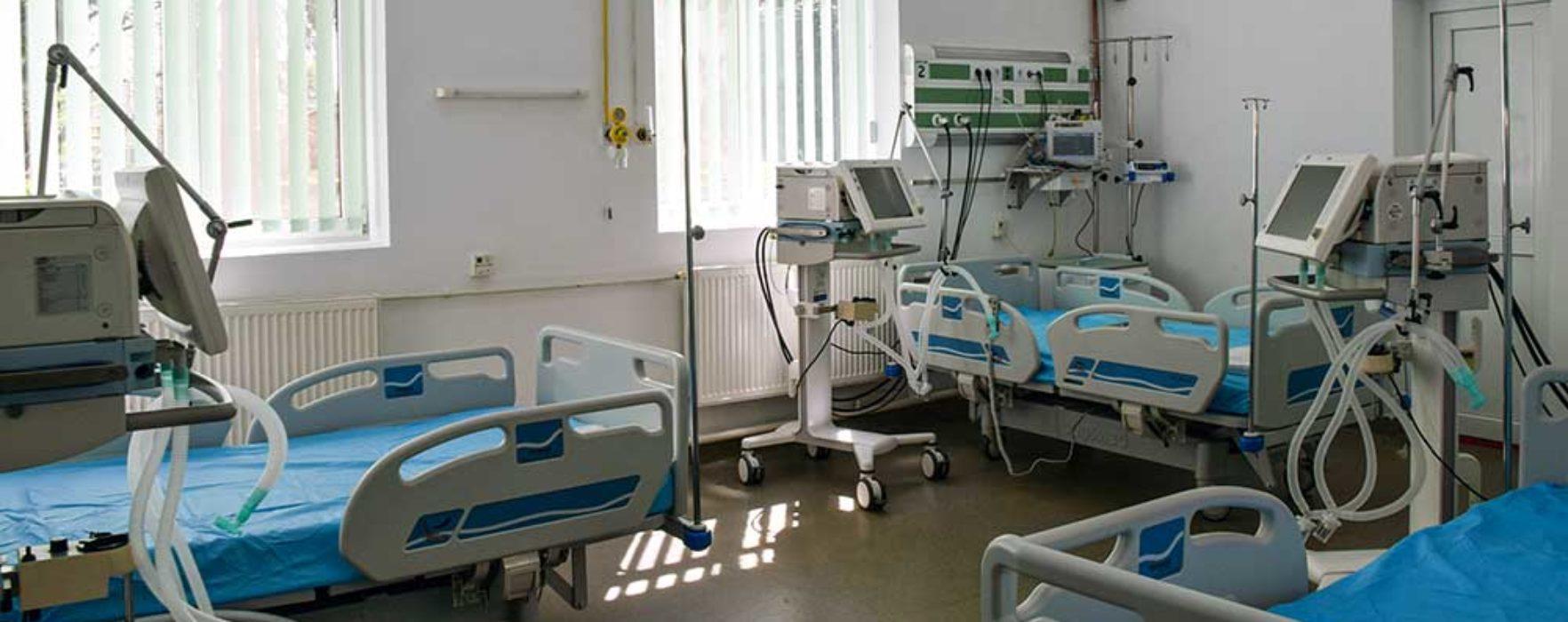 Secţia Ortopedie a Spitalului Judeţean de Urgenţă Târgovişte, amenajată ca spaţiu de primire pacienţi cu coronavirus