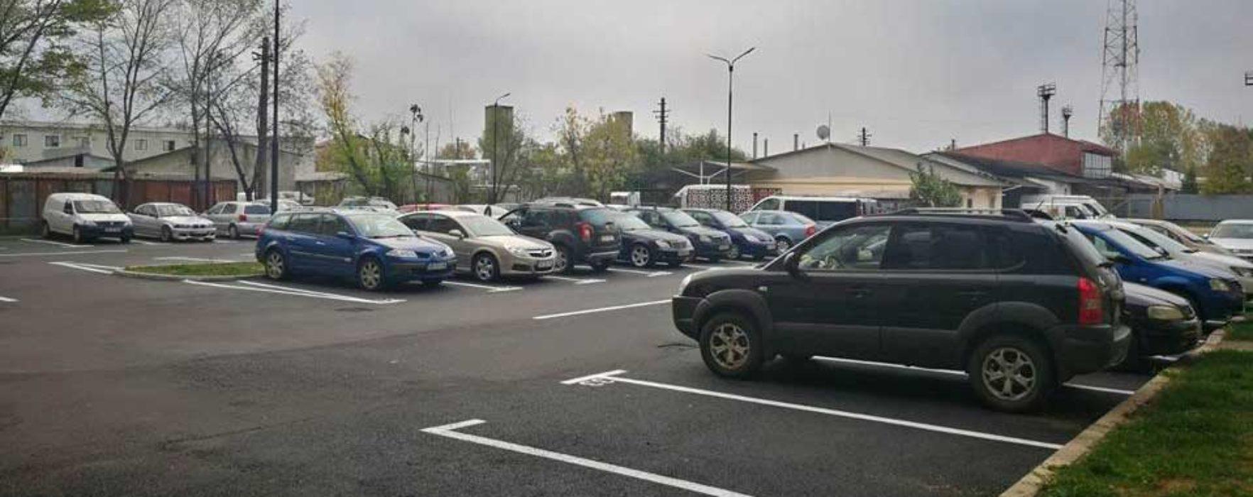 Târgovişte: Parcare amenajată în cartierul CFR