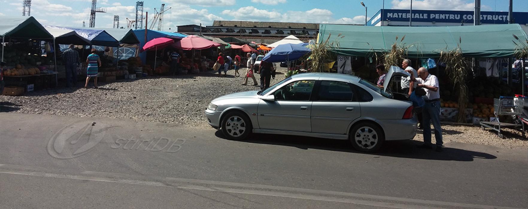 Piaţa agroalimentară ilegală continuă să funcţioneze în centrul Târgoviştei