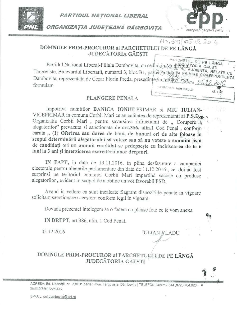 plangere_penala_inregistrata