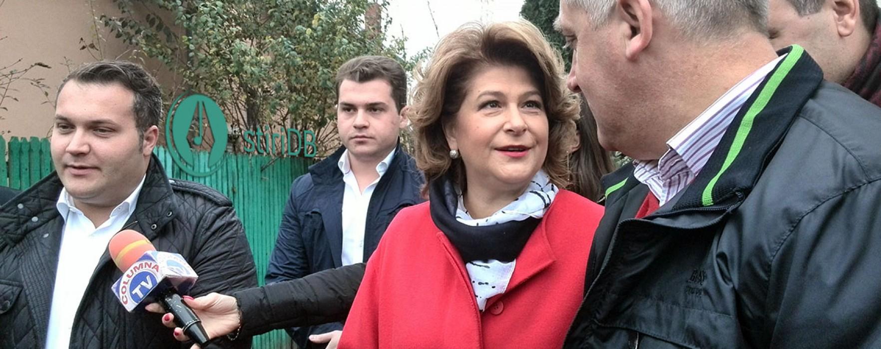 Ministrul Rovana Plumb a votat la Târgovişte