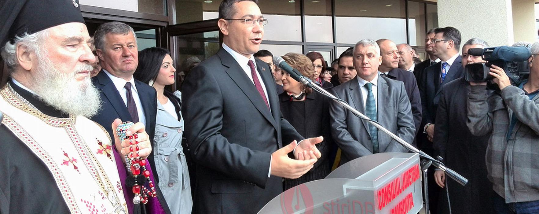 Inaugurarea sediul Institutului de Cercetare UVT; prezenţi premierul Ponta şi cinci miniştri