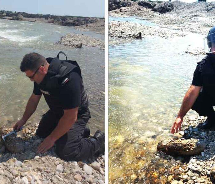 Dâmboviţa: Proiectil exploziv găsit pe malul Ialomiţei