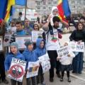 Protest de solidaritate cu Roşia Montană (foto)