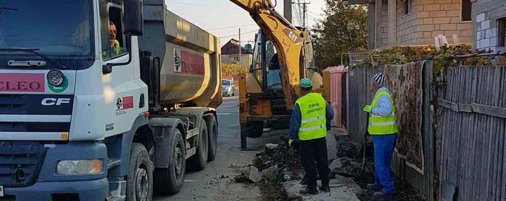 Târgovişte: Au început lucrările de reabilitare a străzii Tudorică Popescu