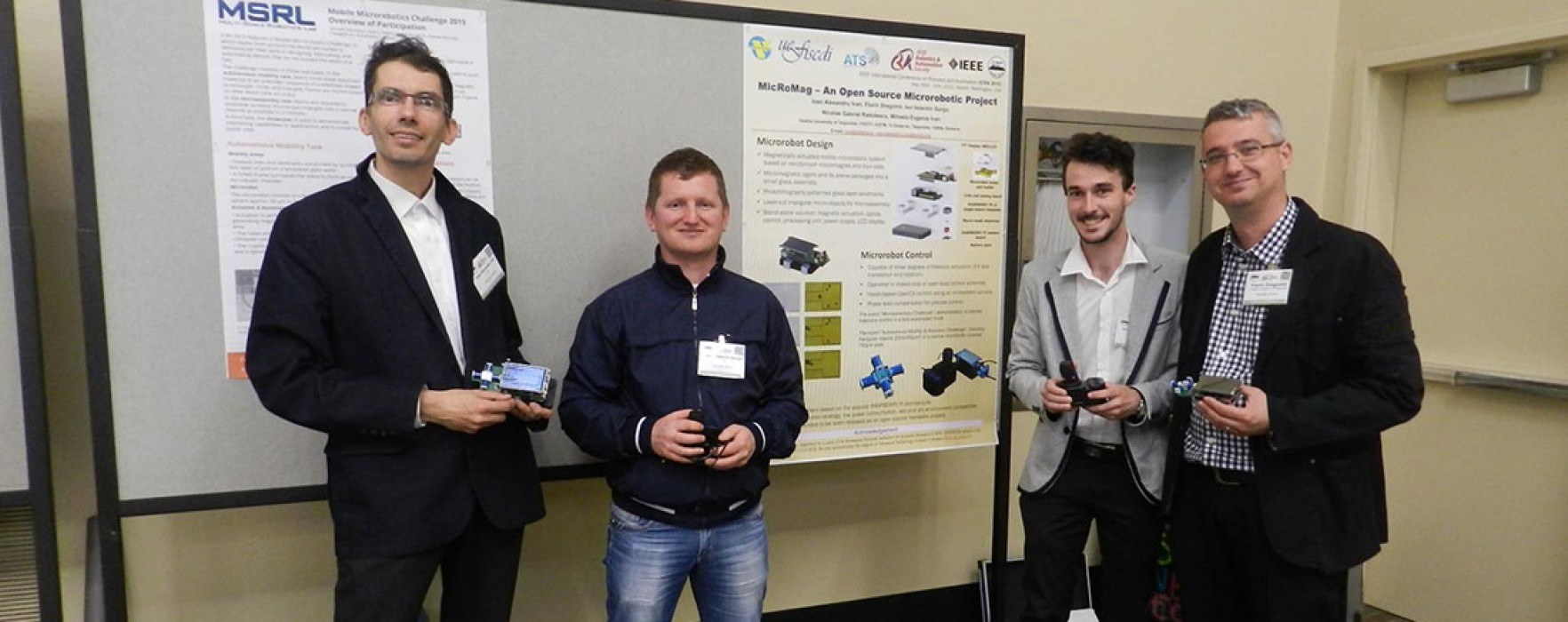 """Sistem microrobotic inovant al Universităţii Valahia, prezentat publicului în Bucureşti la """"Noaptea cercetătorilor"""""""