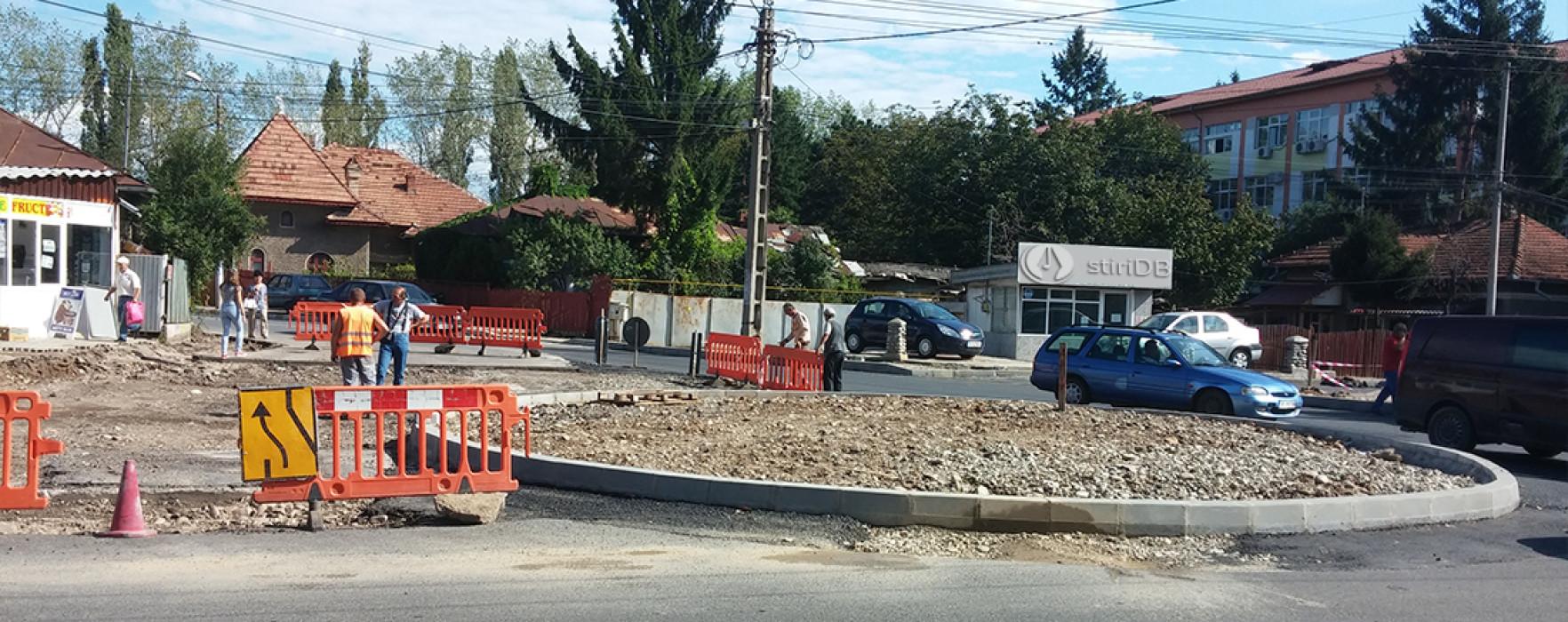 Târgovişte: Sensul giratoriu de la intersecţia Lt Stancu Ion-IC Brătianu, gata în două săptămâni
