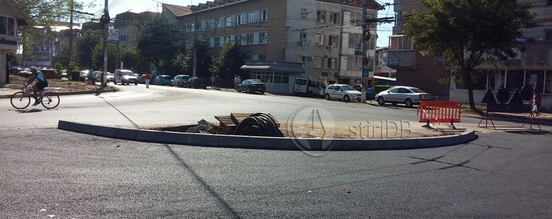 Târgovişte: Sensul giratoriu de la Compania de Apă va fi gata în octombrie