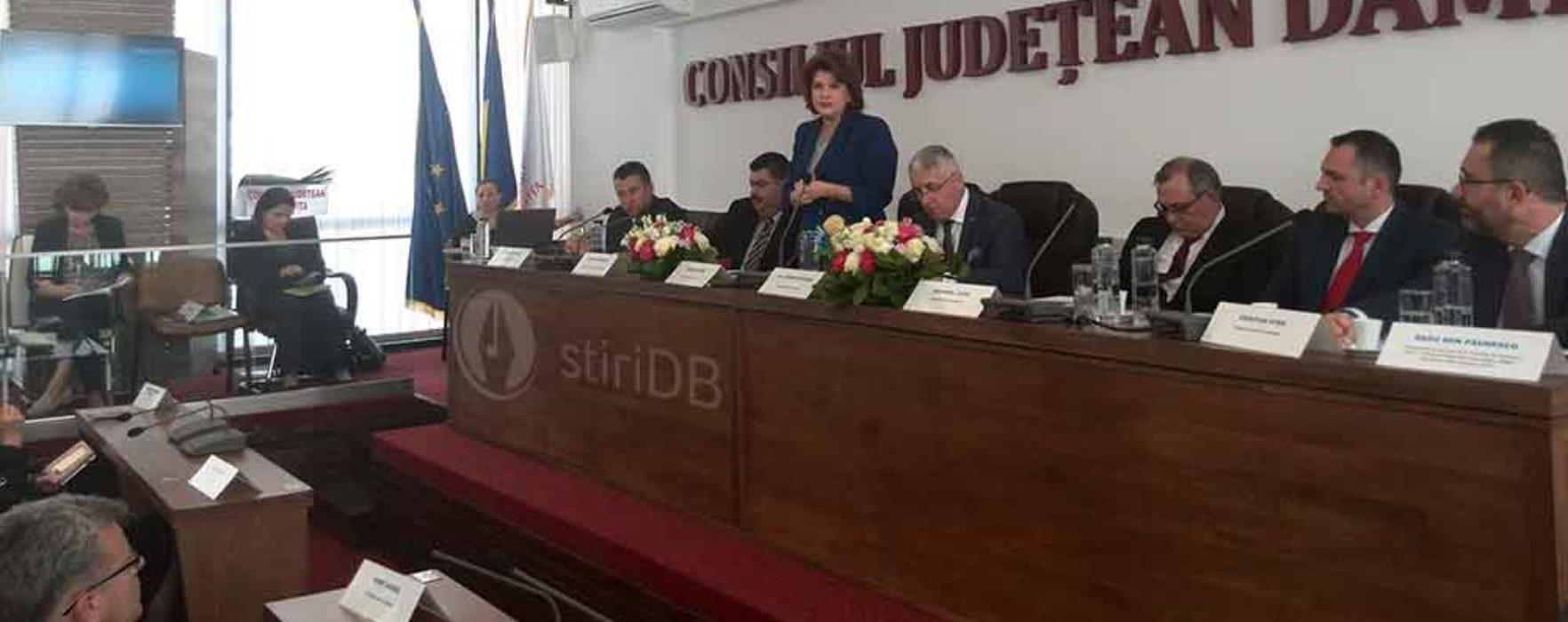 Dâmboviţa: Ministrul Rovana Plumb a participat la prezentarea proiectului european de dezvoltarea a infrastructurii de apă în judeţ