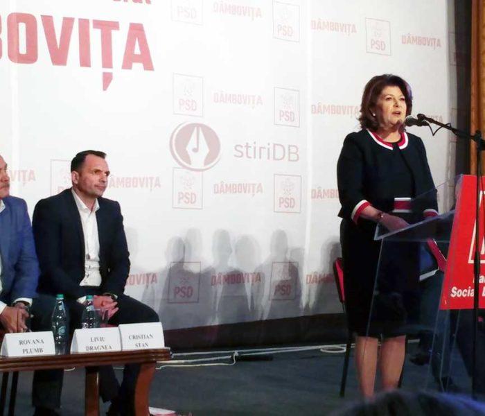 Rovana Plumb, aleasă preşedintă a organizaţiei PSD Dâmboviţa