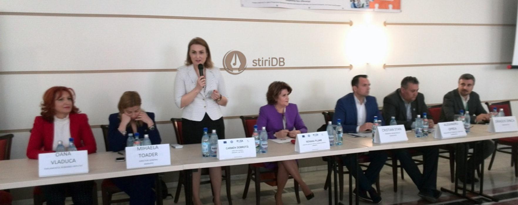 Ministrul Rovana Plumb, prezentă la Târgovişte la caravana de promovare a Programului Operaţional Capacitate Administrativă