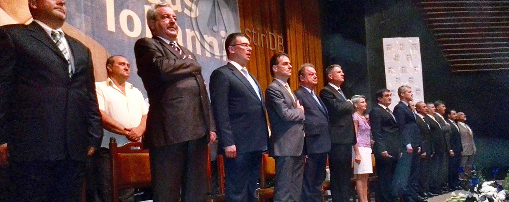 Klaus Iohannis, prezentat la Târgovişte de Orban ca o vedetă rock (video)