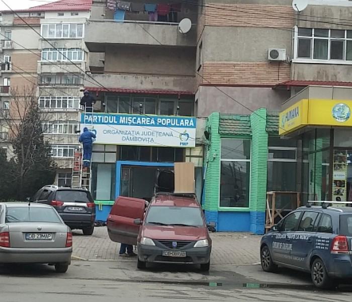 Partidul Mişcarea Populară îşi deschide sediu în centrul Târgoviştei