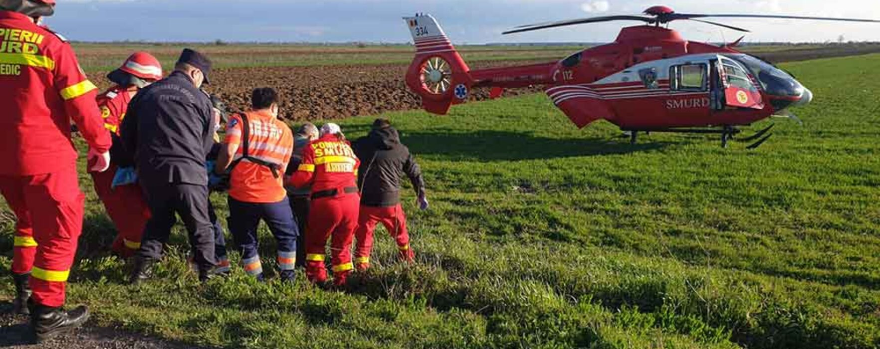 Dâmboviţa: Motociclist de 26 de ani rănit grav, va fi dus cu elicopterul la Bucureşti