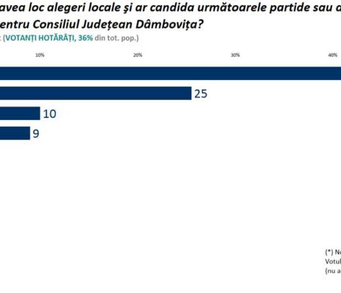 Locale2020 Cel mai recent sondaj făcut public arată că PSD câştigă în Dâmboviţa