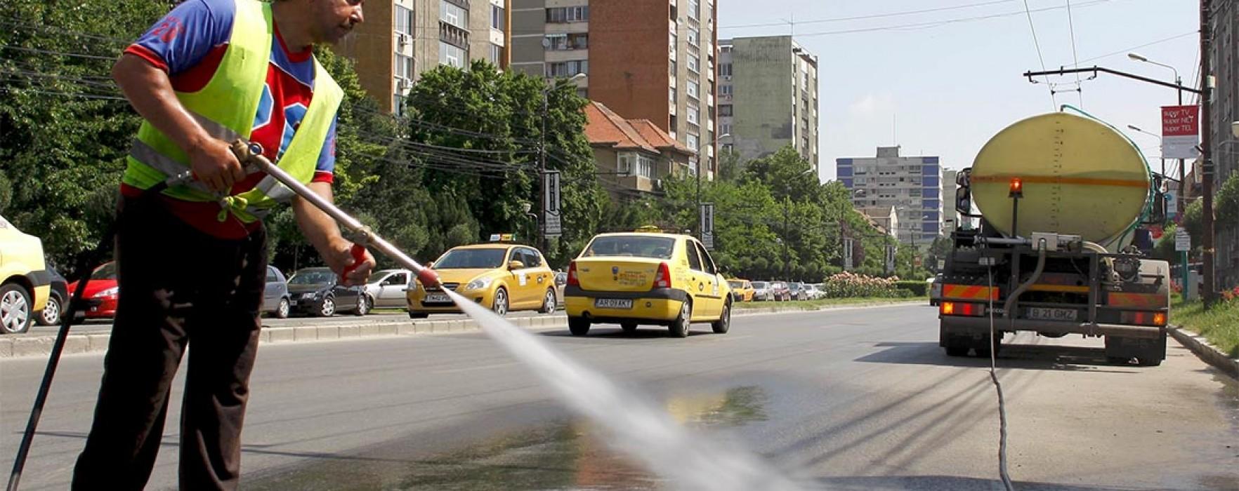 Străzile din Târgovişte vor fi spălate cu şampon