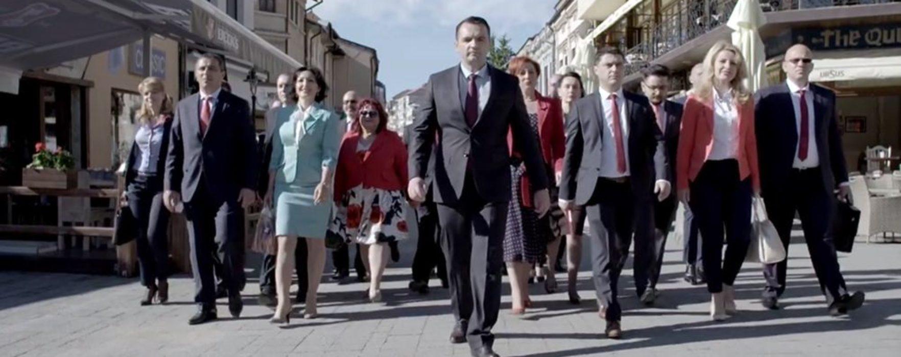 Clip de promovare a candidaţilor PSD la Primăria Târgovişte