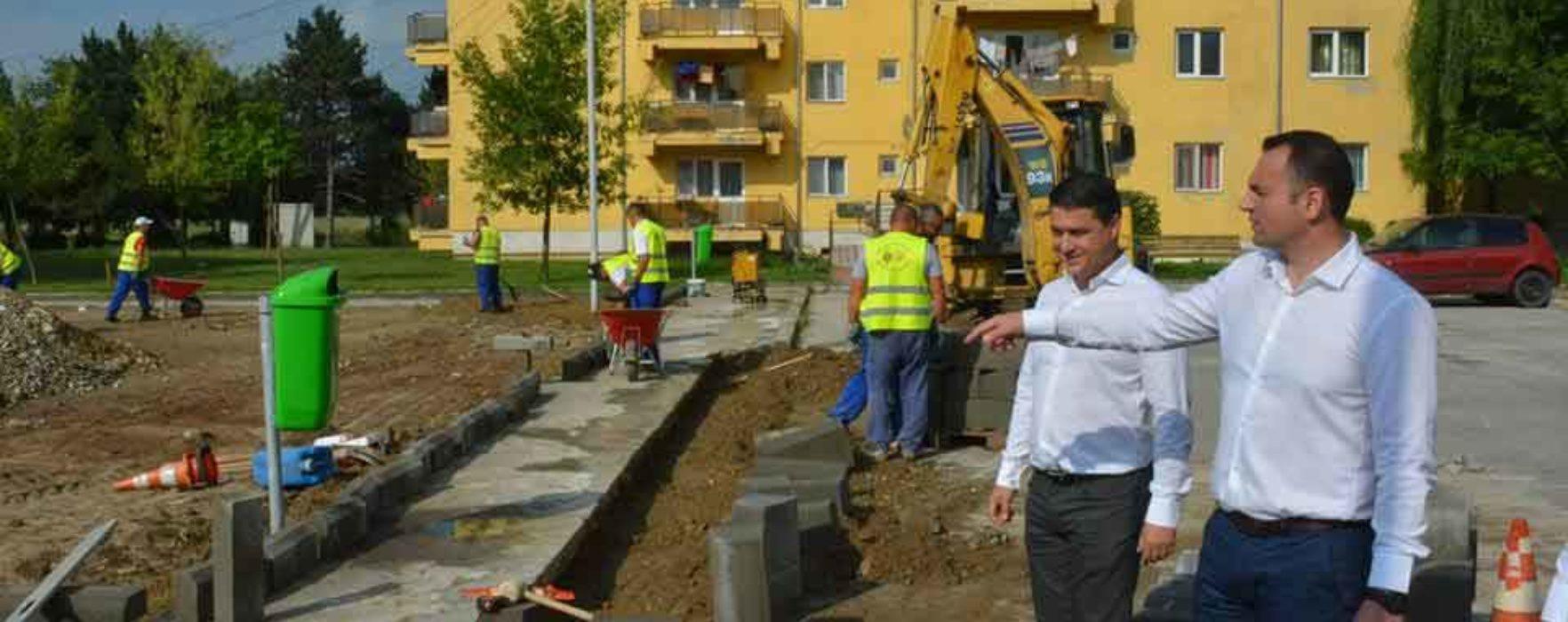 Târgovişte: Au început lucrările de reabilitare în cartierul Sagricom