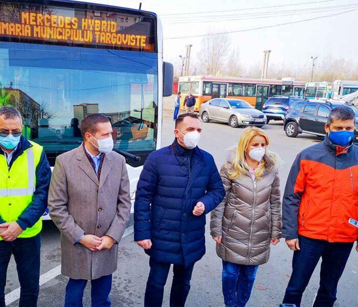 Târgovişte: Primul autobuz Mercedes-Benz Citaro Hybrid, cumpărat de primarie, a ajuns la Târgoviște