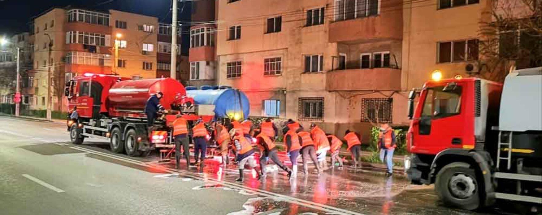 Târgovişte: Străzile din municipiu vor fi spălate în fiecare noapte