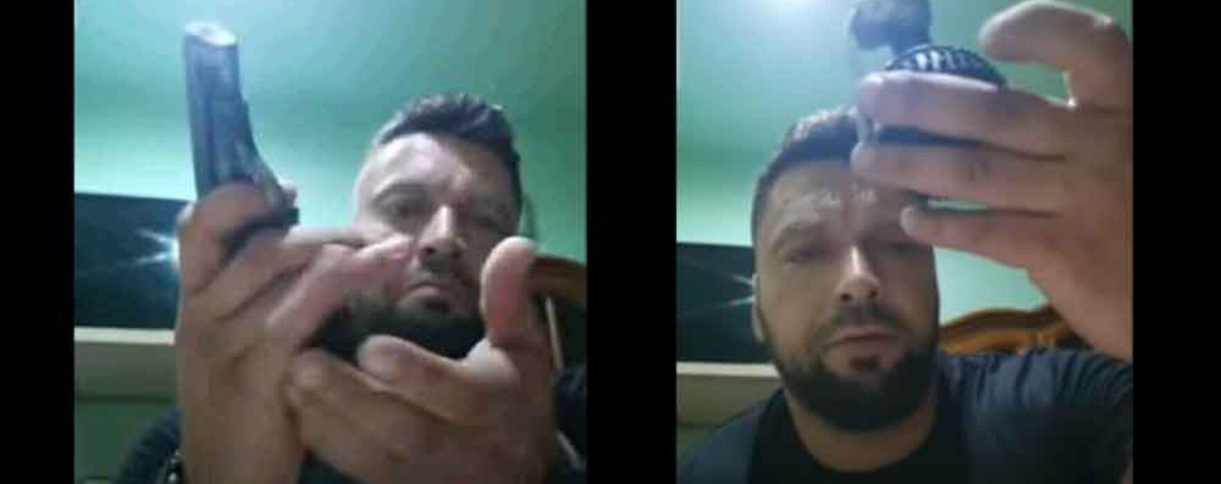 Dâmboviţa: Bărbat prins de Poliţie, după ce a postat pe facebook ameninţări cu arme de foc
