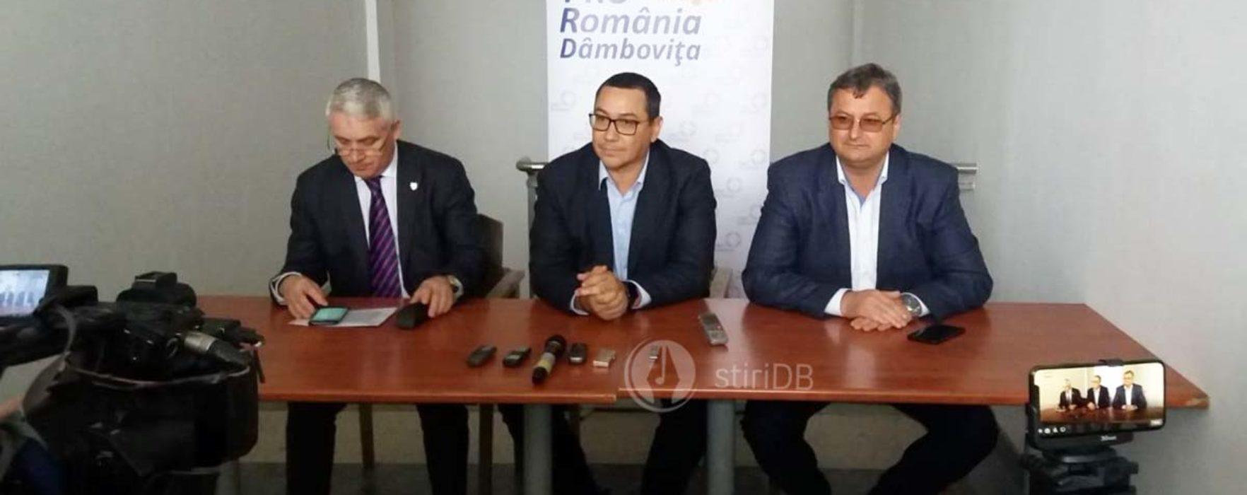Ponta, la Târgovişte, mesaje pentru Dragnea şi Rovana Plumb