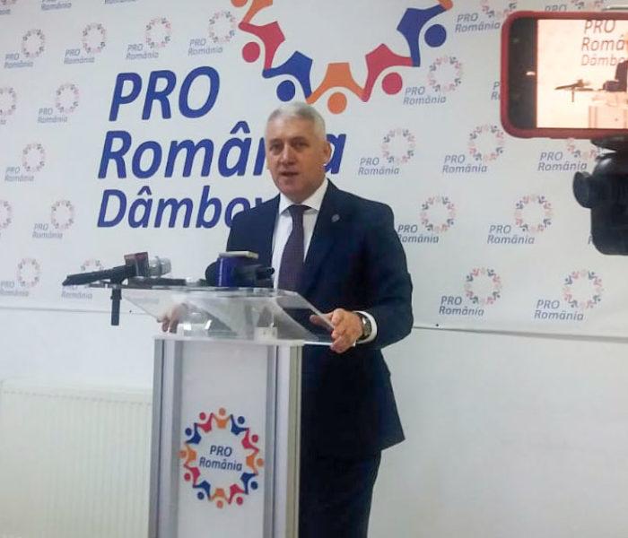 Adrian Ţuţuianu: Continuăm efortul de reconstrucţie a Pro România Dâmboviţa