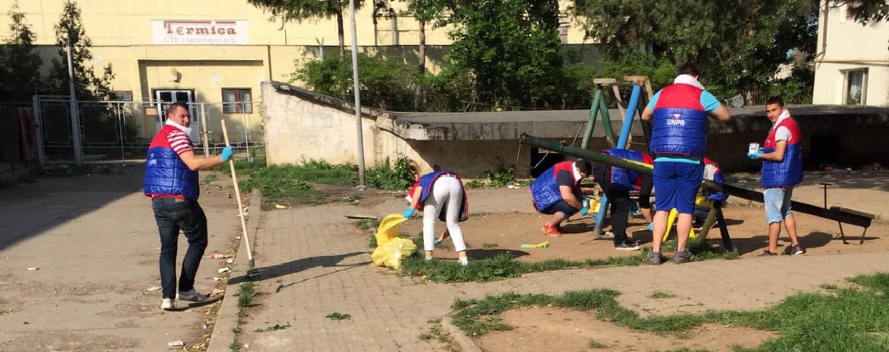 UNPR – Acţiune de informare şi ecologizare în Târgovişte