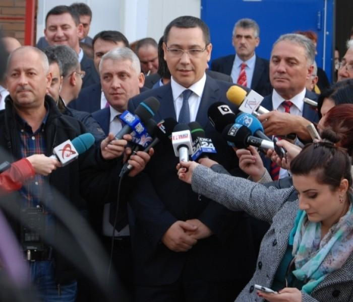 Victor Ponta a participat la Arctic la inaugurarea unei noi  linii de producţie